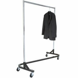 Econoco Commercial Garment Rolling Z rack Kd Construction With Durable Square