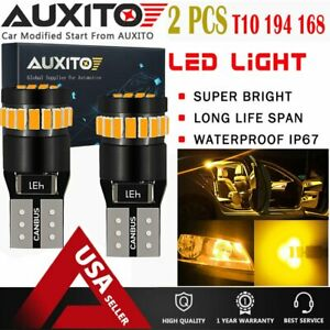 2x Amber T10 168 194 Led Side Marker Light Bulbs Yellow For Chevy Ford Toyota Ea