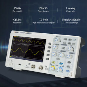 Oscilloscope Oscillometer Digital Storage 2ch 20mhz 100ms s 7 Lcd Display 1pcs