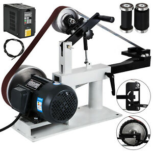 2 X 82 Knife Belt Grinder W Motor Vfd Combo Base Tool Rest Attachments 2hp