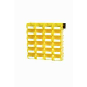 Storage Bins Baskets Yellow Durable Plastic Stackable Wall Mount Rail System New