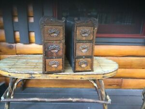 Vintage Treadle Sewing Machine Cabinet Fancy 3 Drawers 15 1 2 Tall W Screws 1