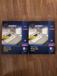 Avery Ave11525 Index Divider 2 Boxes