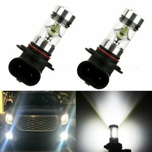 2x 6000k Super White H10 9045 9145 9140 Led Fog Light Bulb Projector Driving Drl
