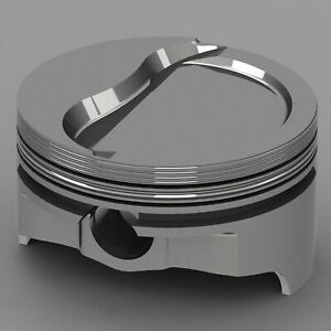 Icon Forged Piston Set Ford 377c Rod 6 125 Ford 402c Rod 6 000 Flat Top 3cc 1v
