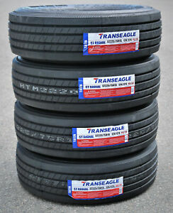 4 New Transeagle All Steel St Radial St 225 75r15 Load G 14 Ply Trailer Tires