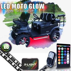 18 color Rgb w Golf Cart Underbody Glow Led Lighting Kit W brake Music Modes