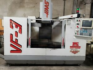 Haas Vf 3 Cnc Milling Machine Auger Pcool See Video
