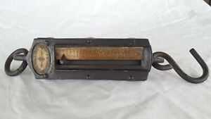 Old Vtg Antique Collectible Chatillon S Iron Clad Hanging 200lb Scale