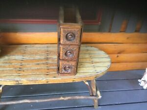 Vintage Antique Singer Treadle Sewing Machine Table Cabinet Cast Iron Complete