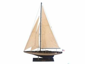 Rustic Enterprise 35 Wood Sailing Boat Wooden Ship Model Model J Yacht