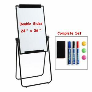 360 Rotating Magnetic Whiteboard Double sided Dry Erase Easel U stand 24 X 36