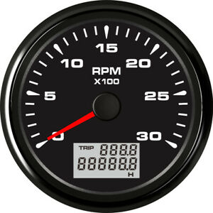 0 3000rpm Tachometer Gauge 85mm Auto Meter With Lcd Hour Meter 8 Kinds Backlight