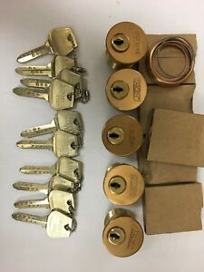 Lot Of 5 Keyed Alike New Sargent Keso Mortise Lock Cylinder High Security