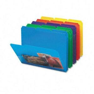 Smead Slash Pocket Poly File Folders 1 3 Cut