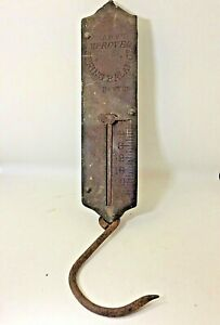 Vintage Frary S Spring Balance Scale 25 Pound Brass Steel Hanging Scale
