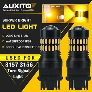 Auxito 2x Turn Signal Light Amber 3457a 3157 Led Bulbs For Toyota Corolla Tundra
