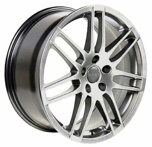 18x8 Wheels Fit Audi Vw Rs4 Hyper Silver Rims Et42 5x112 W1x Set