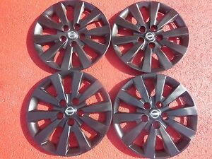 Nissan Sentra Hubcaps Wheel Covers 13 14 2015 2016 16 Black Factory Caps 53089