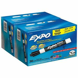 Expo Low odor Dry Erase Markers Chisel Tip Assorted Colors 72 Count 2047307