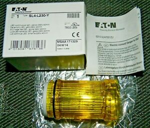 New Eaton Sl4 l230 y Yellow Led Beacon 40mm 230v Steady Light For Sl4 Tower