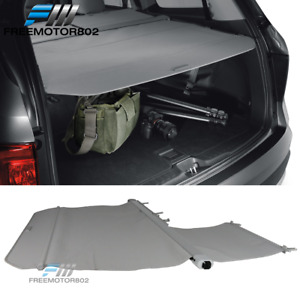 Fits 16 19 Honda Pilot Factory Style Retractable Rear Trunk Cargo Cover Gray Pu
