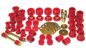Prothane 89 95 Toyota 4wd Pickup Truck Complete Suspension Bushing Kit red
