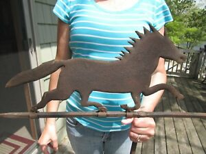 Primitive Antique Horse Weathervane From The Blohm Barn In Hart Mi 100 Yrs Old