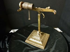 Antique Emeralite Desk Piano Lamp Base 8734 Double Knuckle