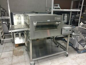 Lincoln Impinger 1132 Double Stack Electric Conveyor Pizza Sub Oven 1 Deck