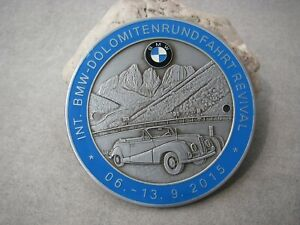 Vintage German International Dolomites Rallye 2015 Bmw Veteranen Club Car Badge