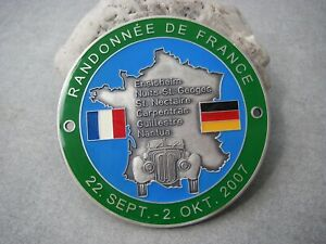 German Bmw 327 Randonne De France Rallye 2007 Bmw Veteranen Club Car Badge