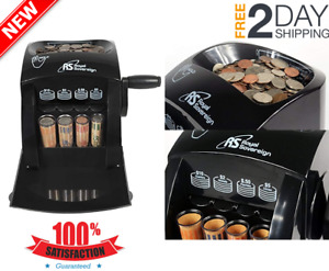 Manual Coin Sorter Counting Machine Counter Money Cash Sorting Anti Jam Roll n