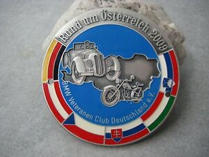 Vintage German Bmw Rallye Austria 2009 Bmw Veteranen Club Car Motorccle Badge