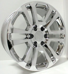 Chevy 20 Chrome Split Spoke Wheels Rims For 2000 20 Silverado Tahoe Suburban