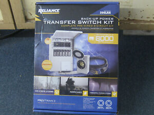 New Reliance Back up Power 6 circuit Complete Transfer Switch Kit Model 306lrk
