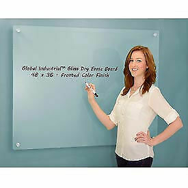 Frosted Glass Dry Erase Board 48 X 36 1 Each