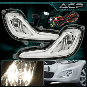 For 2012 2016 Hyundai Accent Rb Chrome Clear Fog Light Lamp Wire Button Hardware