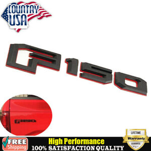 Oem Black Red 2015 2018 Ford F150 Tailgate 3d Rear Badge Emblem