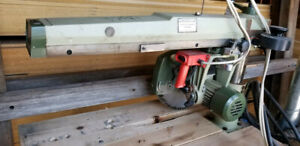 Omga 600 P3s 14 Woodworking Radial Arm Saw 5hp 230 480v low Hour Saw