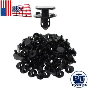 50pcs Bumper Splash Shield Push Clip Screws For Nissan Infiniti Hood Engine