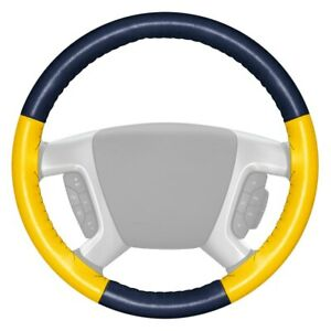 For Ford F 150 17 18 Steering Wheel Cover Eurotone Two color Blue Steering Wheel
