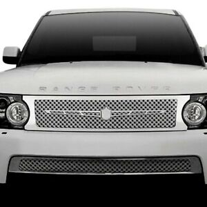 For Land Rover Range Rover Sport 10 13 Grille Kit 4 Pc Luxury Series Chrome Dual