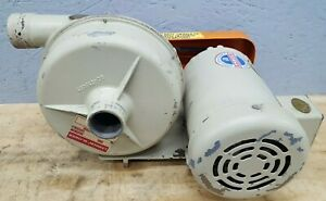 Lamson 202 2 0 ab Centrifical Blower W 2hp Baldor Industrial Motor 3 Phase Used