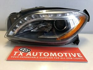 2012 2013 2014 2015 Mercedes Ml350 Ml550 Headlight Left Driver Xenon Hid Oem M76