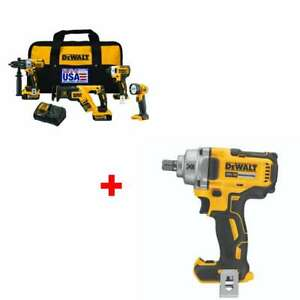 Dewalt Dck494p2 20v Max Xr Lithium Ion 4 tool Combo Kit With Free Impact Wrench