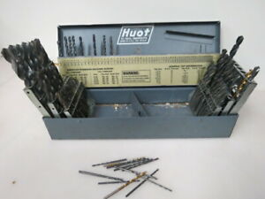 Large Vintage Huot Machinist Drill Bit Set what You See Is What You Get O704k
