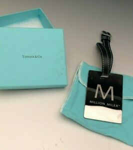Tiffany Co Sterling Silver Luggage Tag With Original Box And Bag