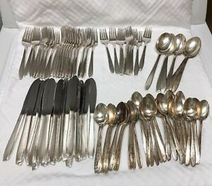 International Silver Co Xii Mid Century Silver Plate Flatware 106 Piece Set