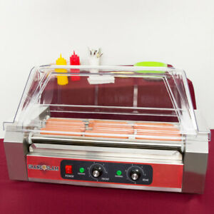 Grand Slam Hdrg12 12 Hot Dog Roller Grill With 5 Rollers Commercial With Guard C